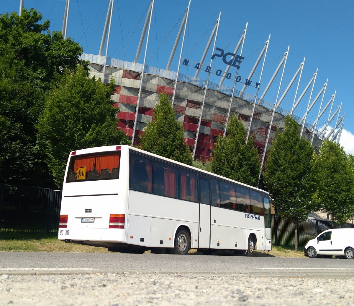 Bus and Stadium in background