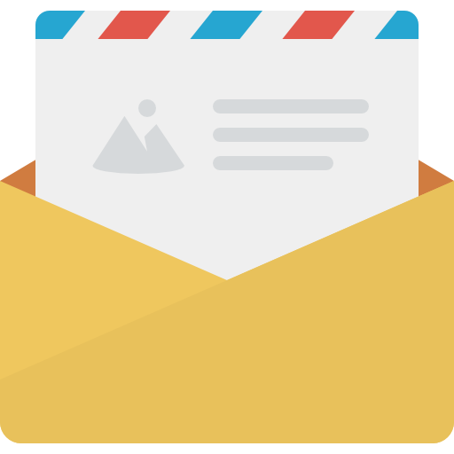 email icon in contact secton